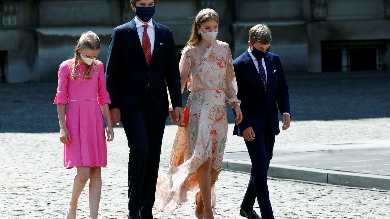 Los hijos de los reyes de Bélgica, en su Día Nacional. (Reuters)