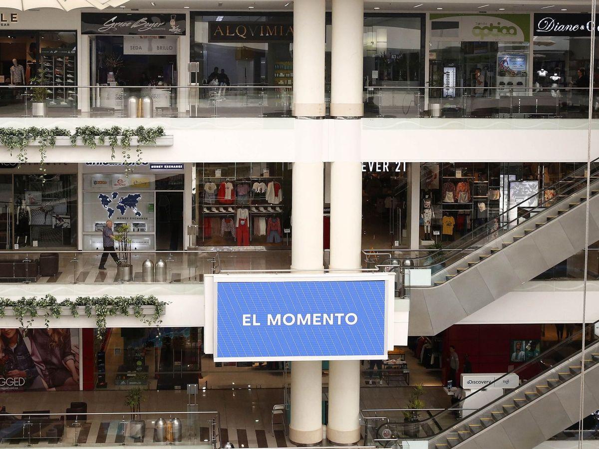 Foto: Fachada de un centro comercial en Medellín, Colombia. (EFE)