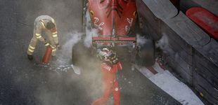 Post de La primera pifia de Leclerc en Ferrari o cuando la avaricia rompió el saco en Bakú