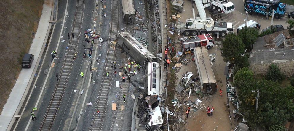 Foto: El accidente de tren de Santiago (Reuters)