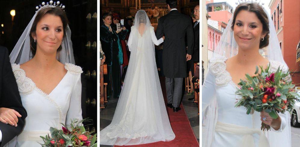 bodas de famosos: todos los secretos del traje de novia de casilda