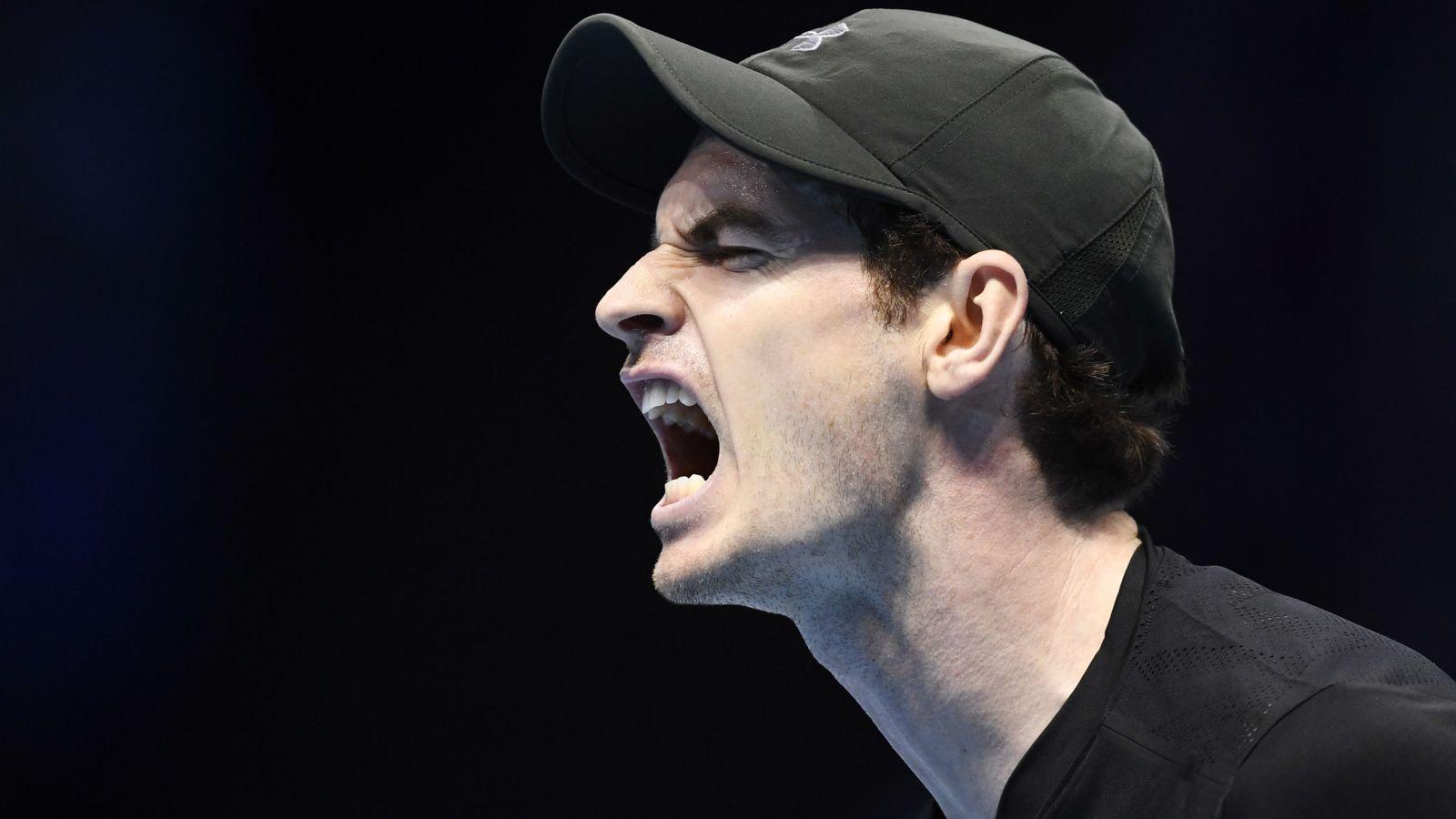 Foto: El escocés Andy Murray celebra un punto durante un partido. (REUTERS)