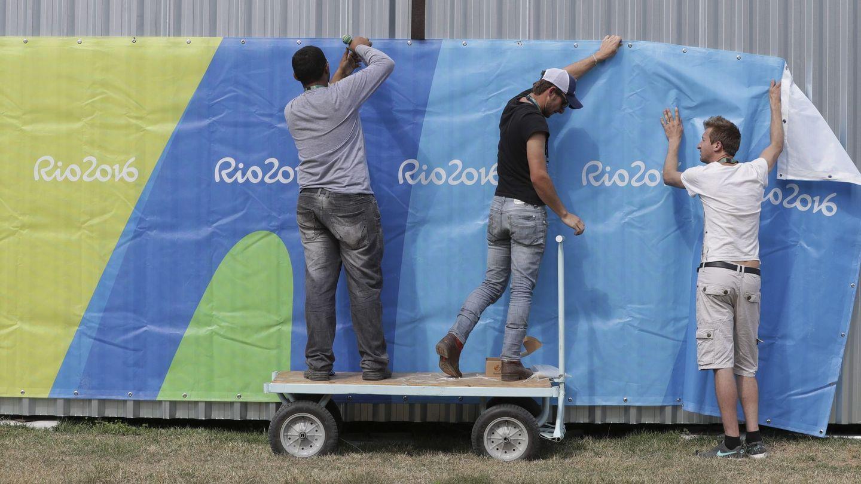 Los brasileños ultiman los preparativos. Foto: Valdrin Xhemaj (EFE)