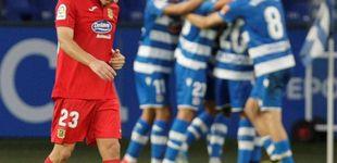 Post de Fin del esperpento en el Deportivo - Fuenla: Penalti in extremis y dardos a Tebas