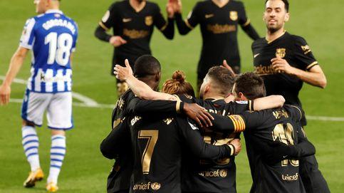 El Barça aplasta a la Real con una exhibición colectiva y se postula para el título (1-6)