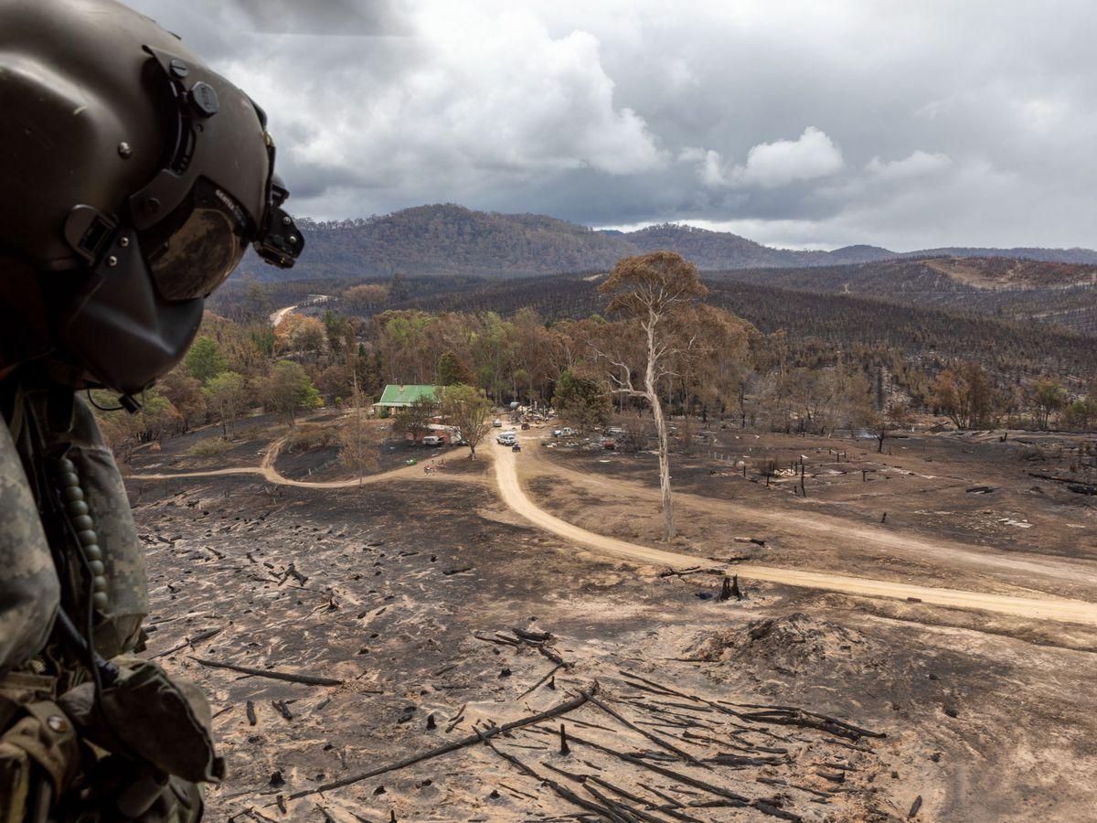 Foto: Zonas afectadas por los incendios en Australia. (EFE)