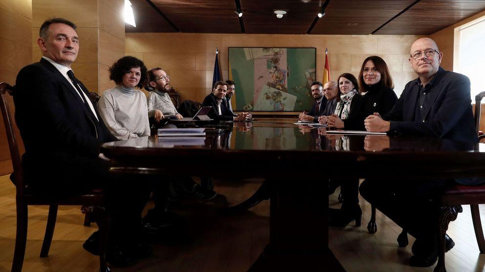 Podemos negocia con el PSOE marcar más perfil propio en las votaciones del Congreso