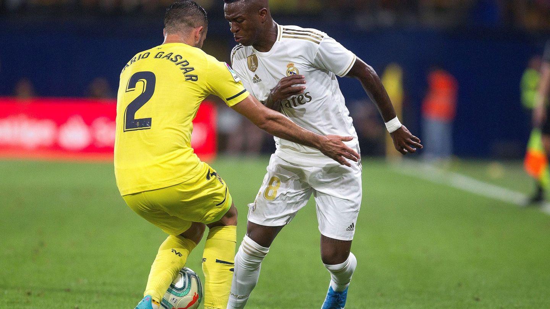 Vinícius, en el partido contra el Villarreal. (EFE)