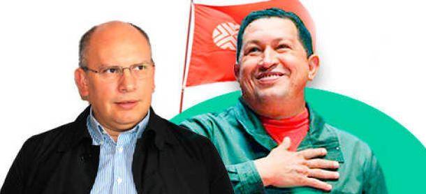 Foto: Nervis Villalobos Cárdenas y Hugo Chávez (E. V.)
