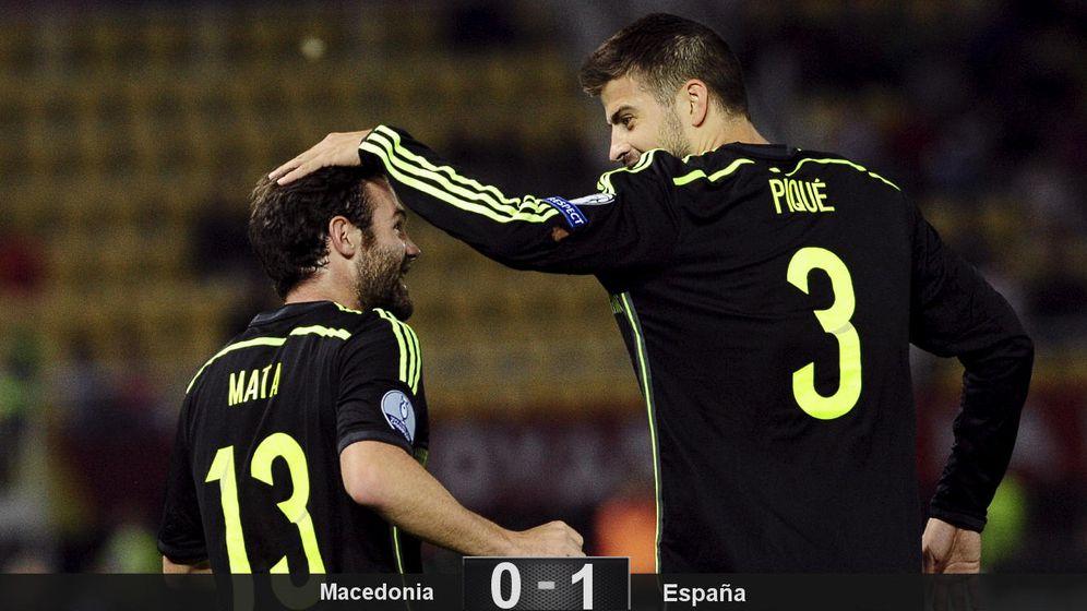 Foto: Del Bosque tiene dos 'Españas' y la peor aburrió y ganó a Macedonia