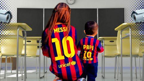 Messi plaga de cámaras de vigilancia el colegio de su hijo Thiago