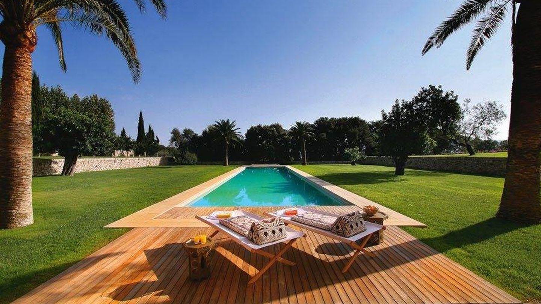 Vista de la piscina de Son Coll cuando estaba en buen estado. (Balearic Properties)