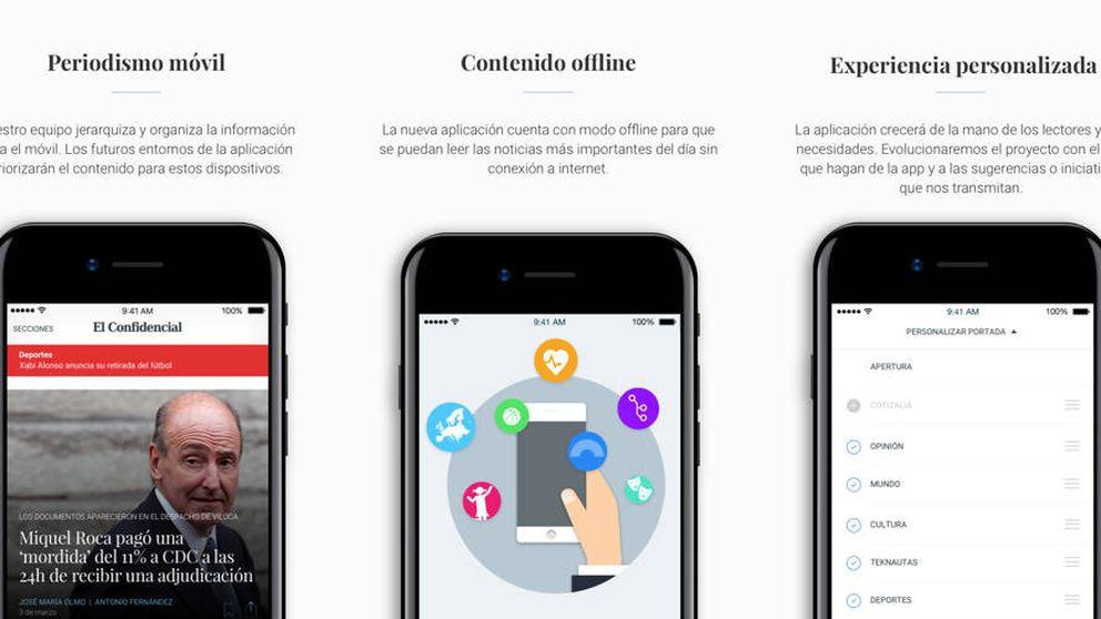 Sencilla, intuitiva y personalizada: El Confidencial rediseña su 'app' de noticias