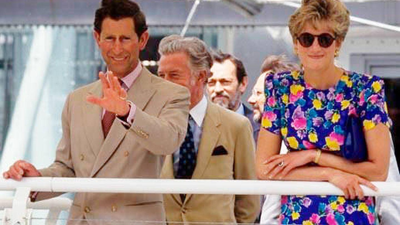 Carlos de Inglaterra y Lady Di, en la Expo'92. (Cordon Press)