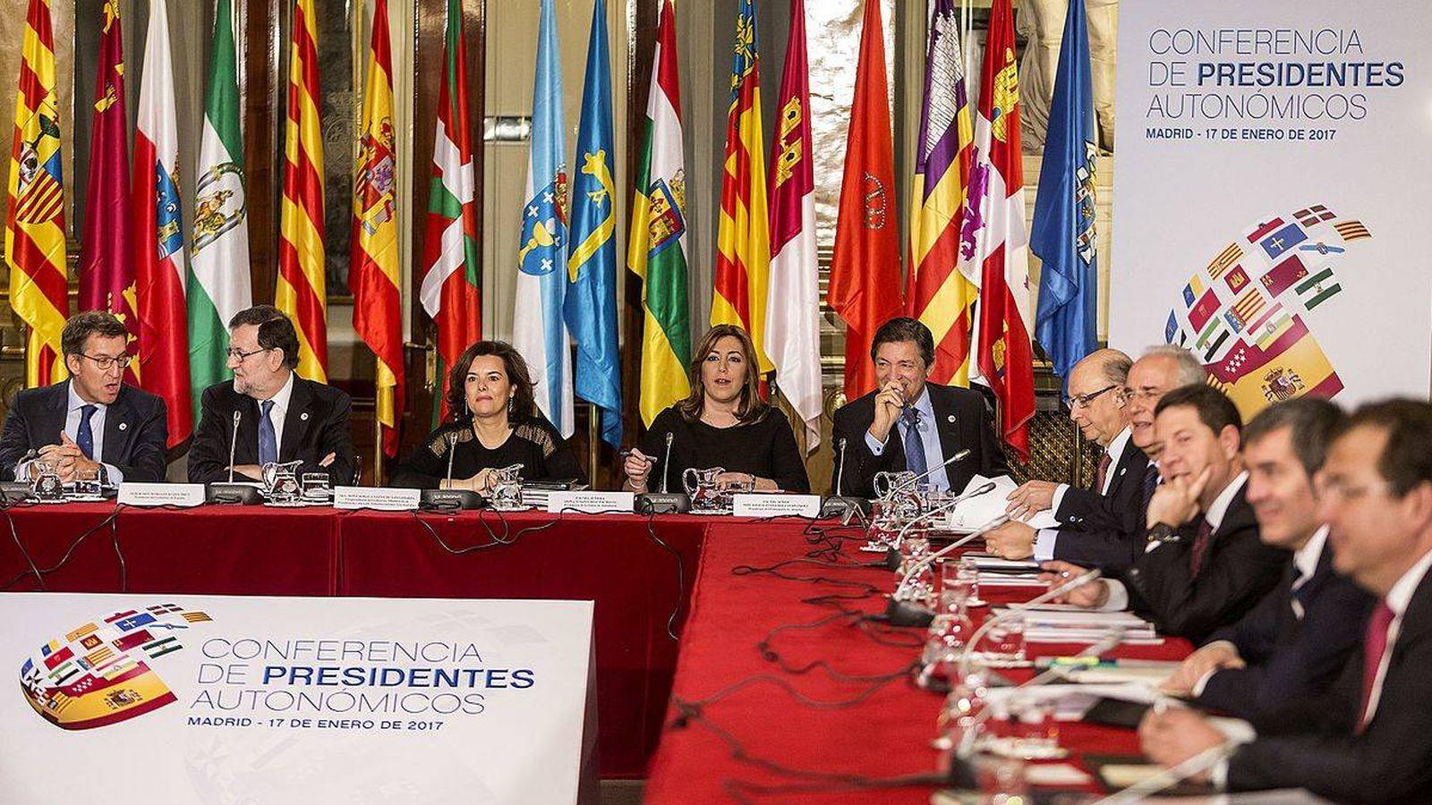 Foto: Conferencia de Presidentes Autonómicos de enero de 2017. (EFE)
