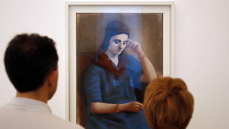 El cuadro de Picasso 'Olga pensativa'. (Getty)