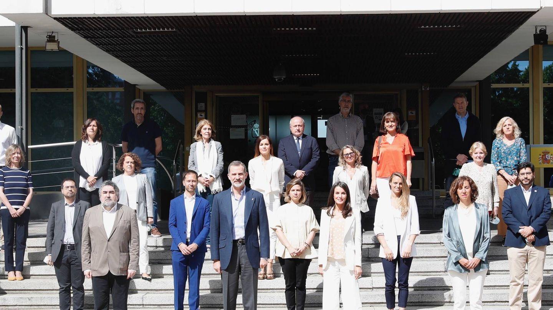 Los reyes Felipe y Letizia, este lunes en el Consejo Superior de Deportes. (Casa Real)
