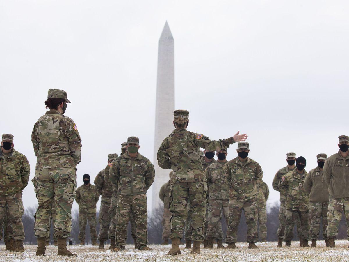 Foto: Miembros del Ejército de EEUU en Washington, DC. (EFE)