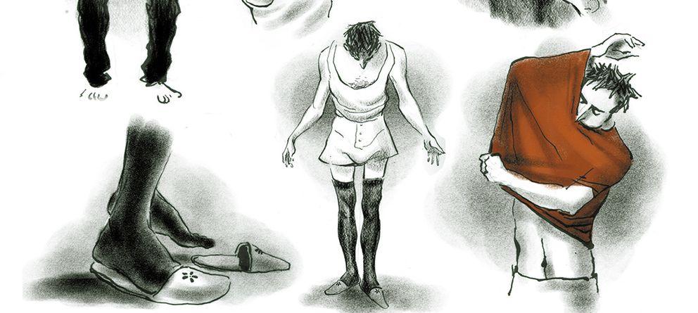 Foto: Escena de 'Degenerado', en la que Paul se prueba por primera vez ropa de mujer.