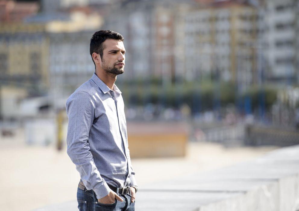 Foto: El actor Jesús Castro, durante la presentación de la película 'La isla mínima' en San Sebastián (Gtres)