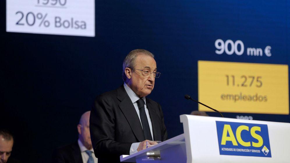 Foto: El presidente de ACS, Florentino Pérez, en la junta de accionistas de la compañía. (EFE)