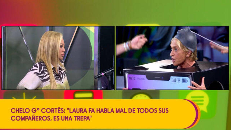 Belén Esteba y Chelo García-Cortés, en 'Sálvame'. (Mediaset)