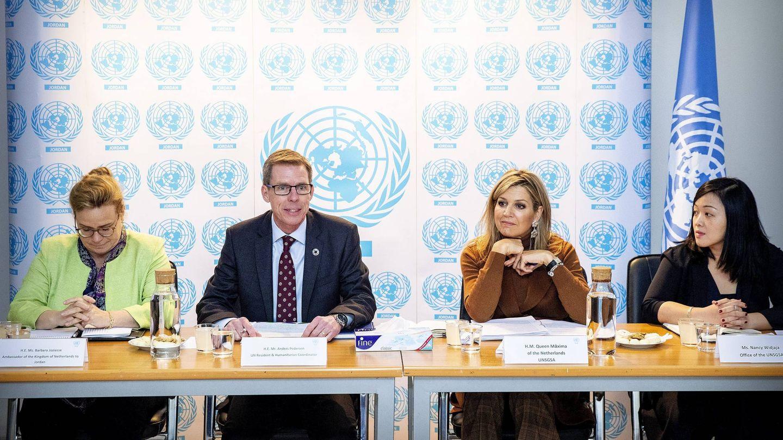 La reina Máxima durante la reunión de la ONU en Jordania. (Cordon Press)
