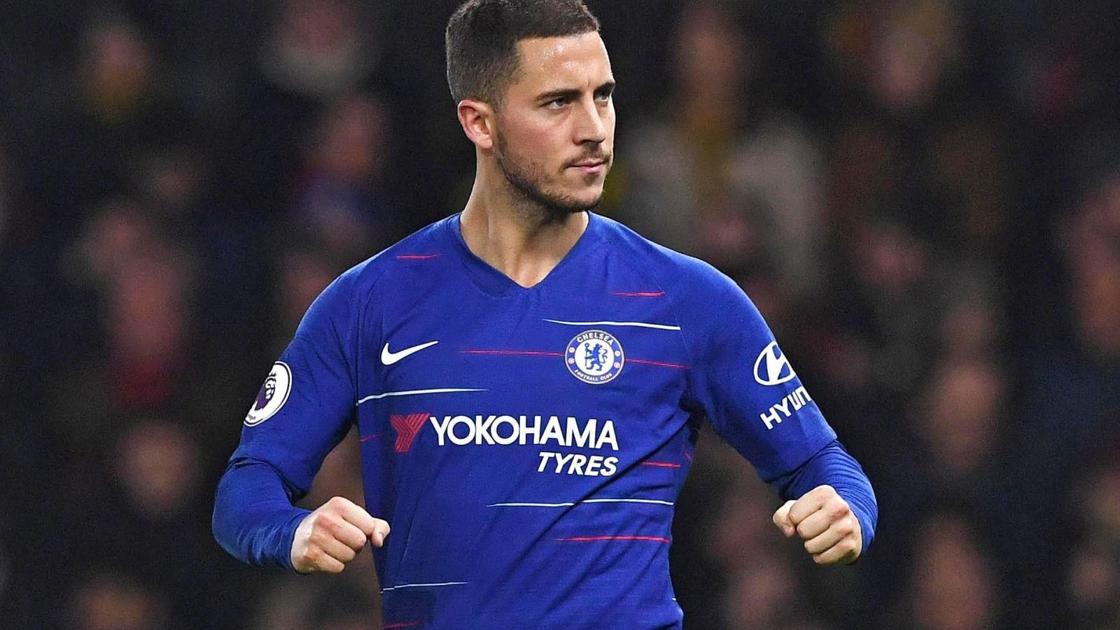 Foto: Eden Hazard celebra un gol con el Chelsea. (Efe)
