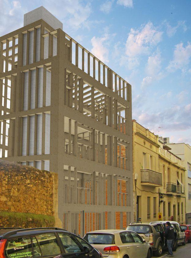 Foto: Arranca la construcción del edificio con estructura de madera más alto de Barcelona