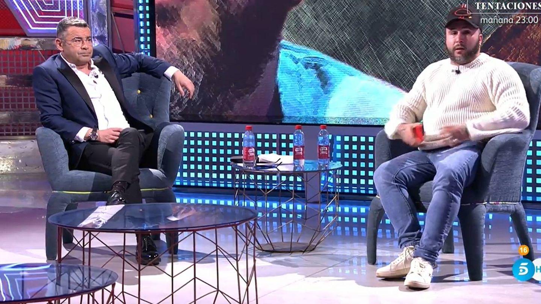 Jorge Javier Vázquez y Kiko Rivera en el 'Deluxe'. (Mediaset)