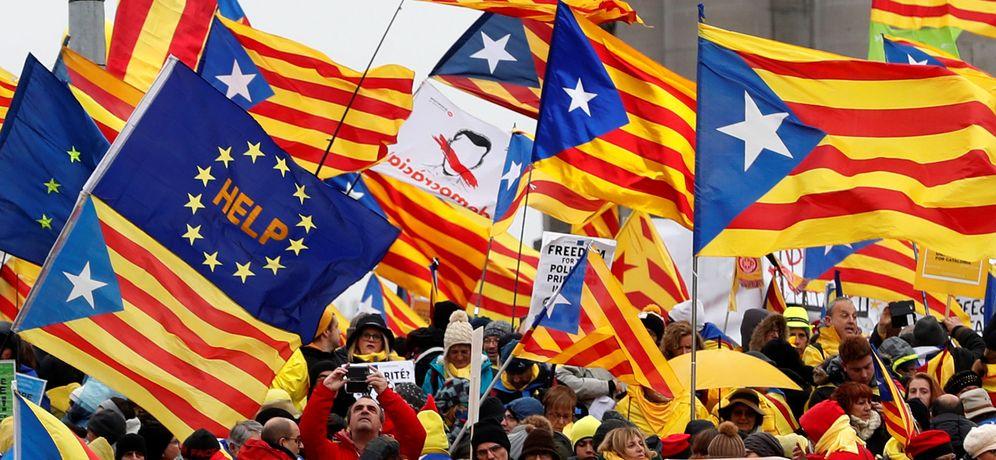 Foto: Manifestación a favor de la independencia de Cataluña. (Reuters)