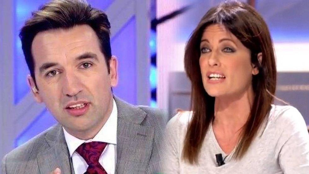 Foto: Miguel Lago, en 'Todo es mentira'; Cristina Seguí, en 'Cuatro al día'. (Cuatro)