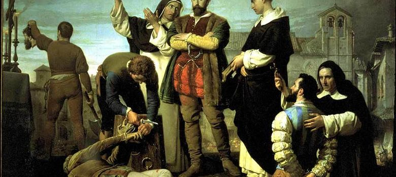 Foto: Los Comuneros Padilla, Bravo y Maldonado en el Patíbulo, Antonio Gisbert, 1860.