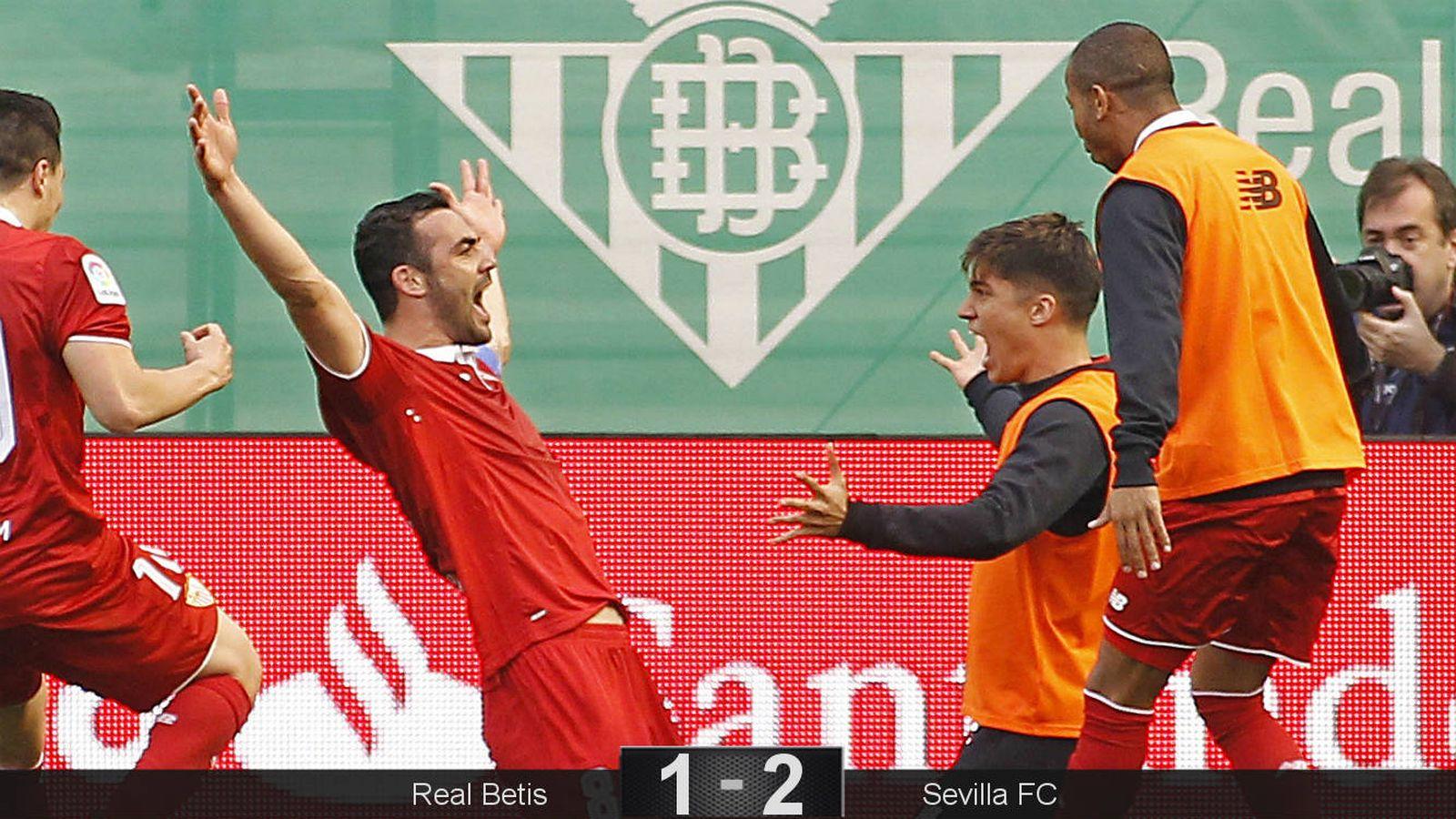 Foto: Iborra sentenció el derbi sevillano, marcando el gol definitivo y activando a su equipo cuando estaba dormido (EFE)