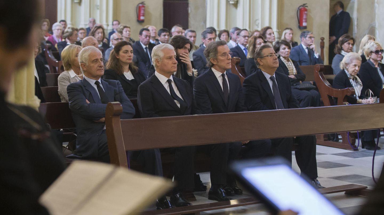 Misa del primer aniversario del fallecimiento de la duquesa de Alba. (EFE)