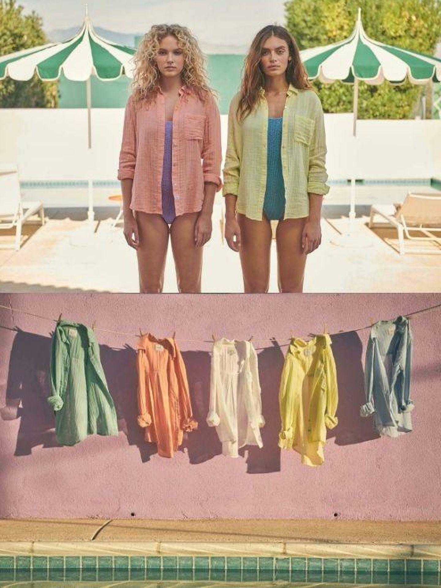 Camisa Ellis en tonos pastel de Rails. (Cortesía)
