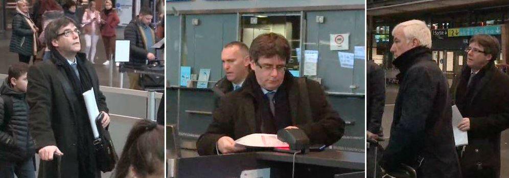 Foto: Puigdemont, saliendo de Bruselas con dirección Copenhague. (EFE)