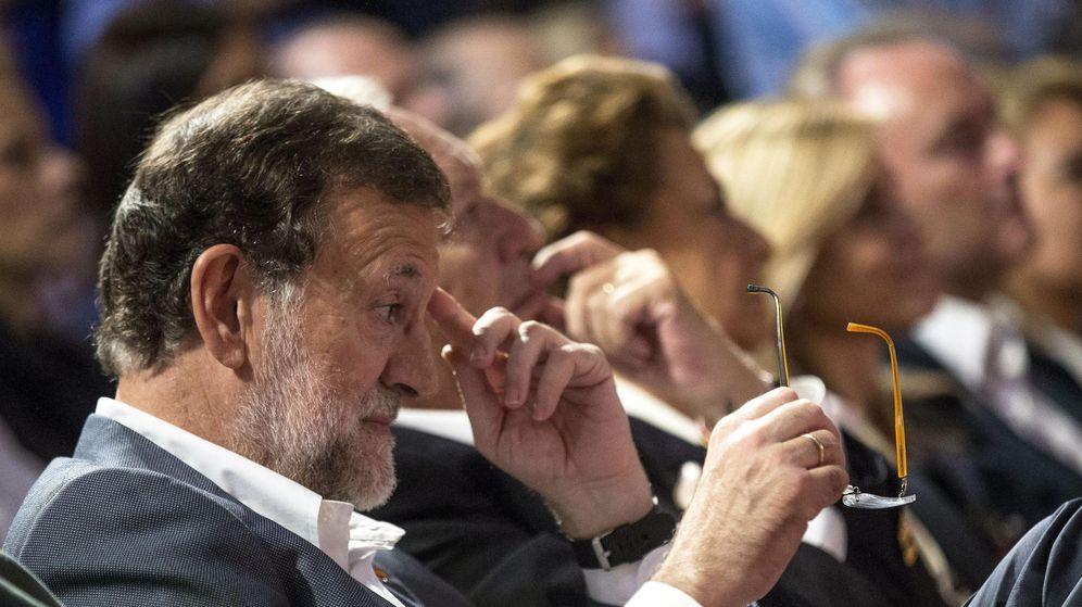 Foto: El presidente del Gobierno, Mariano Rajoy, en la clausura de una jornada del PP valenciano