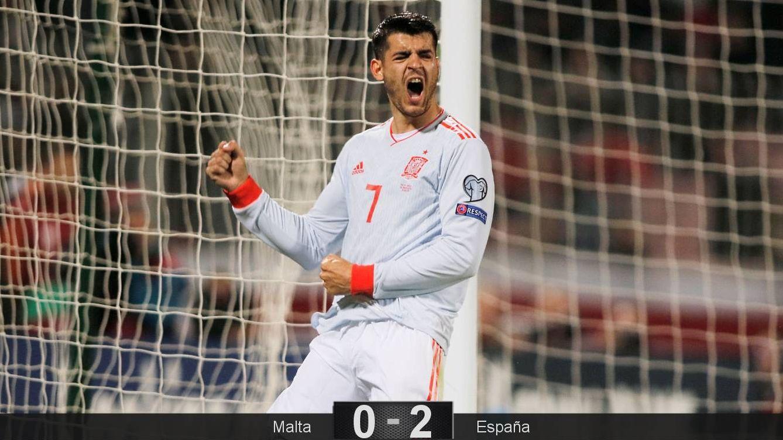 Foto: Morata celebra el segundo gol de España ante Malta, también el segundo suyo. (Reuters)