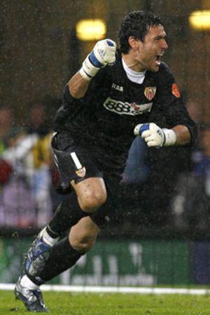 Palop terminará su carrera deportiva en el Sevilla
