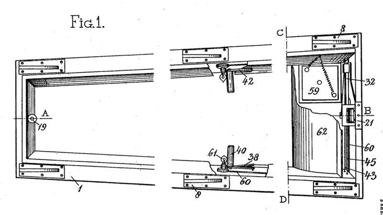 Imagen de la patente del ataúd de Toolen