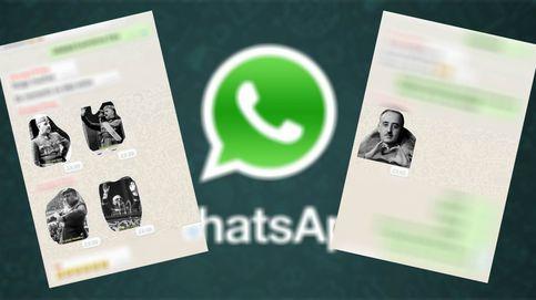 Los 'stickers' ridiculizando a Franco que triunfan en WhatsApp (y cómo conseguirlos)
