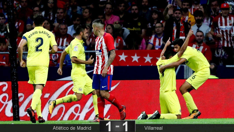 Foto: Jugadores del Villarreal celebran el gol del empate marcado por Bacca. (Reuters)