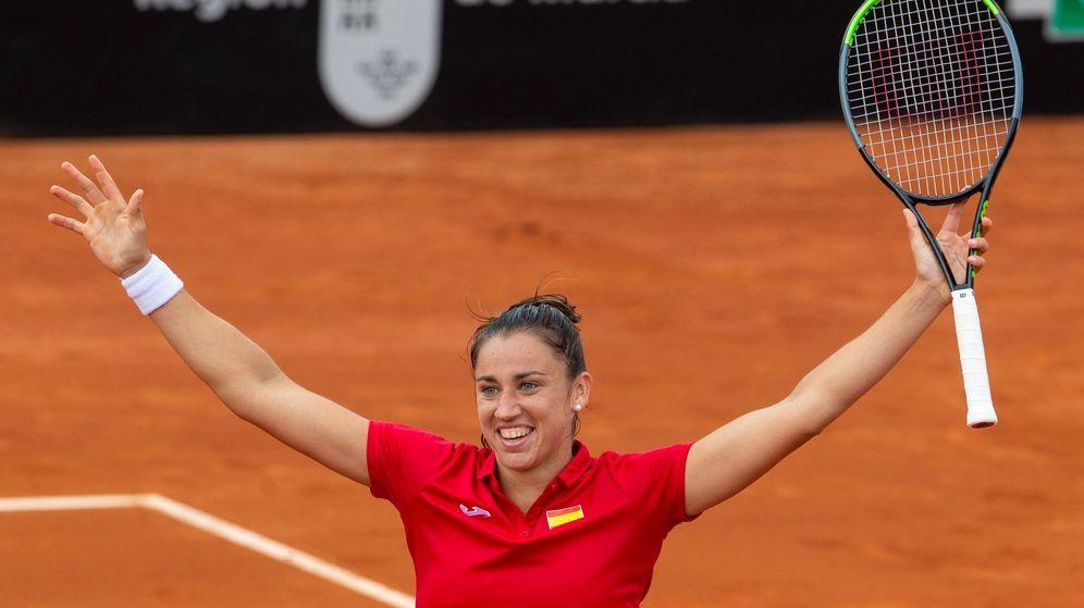 Foto: Sara Sorribes venció a Naomi Osaka en las 'qualifiers' de la FedCup, la Copa Davis femenina. (EFE)