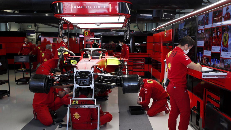 Hubo un intenso trabajo en Ferrari con la nueva unidad de potencia instalada en el coche de Charles Leclerc