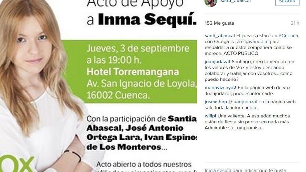 Primer acto público de Inma Sequí, la ''niña de Vox'' tras recibir una paliza