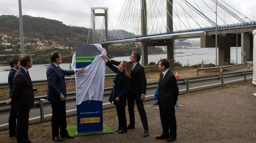 Foto: Mariano Rajoy, durante la inauguración de la ampliación del puente de Rande. (EFE)