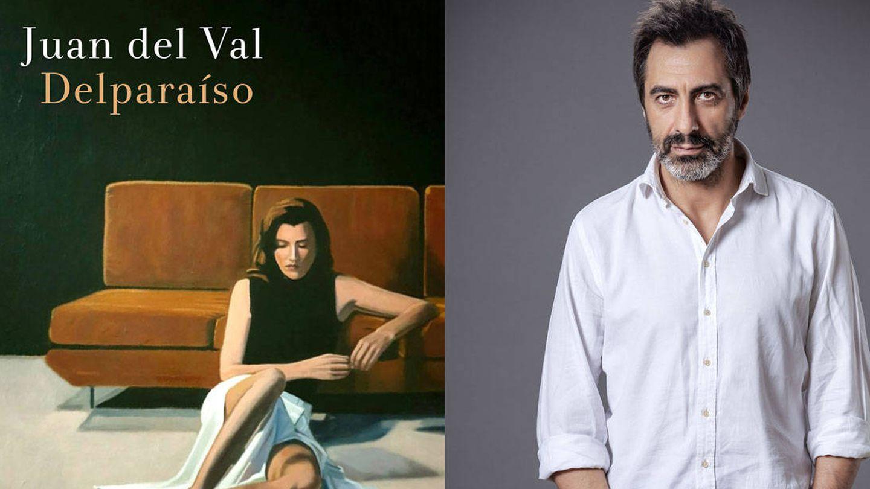 Juan Del Val y la portada de su libro. (Foto: Nines Mínguez)