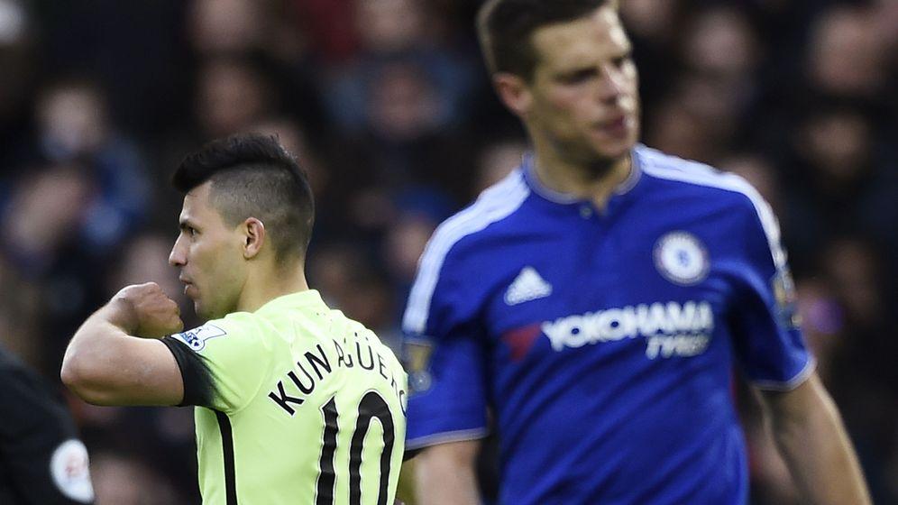 Foto: Agüero celebra el tercer gol del City (Reuters)