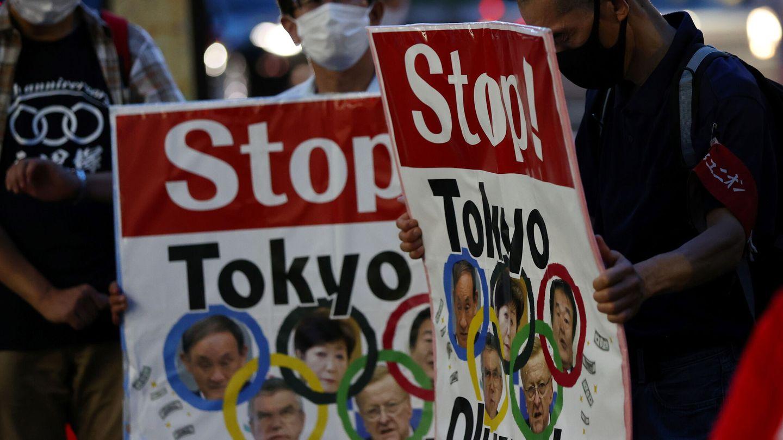 Una protesta en contra de los Juegos Olímpicos en Tokio. (Reuters)